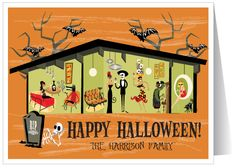Retro Modern Halloween Card
