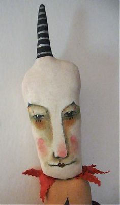 creepy clown....art doll ... by sandy mastroni original design art copyright protected by Sandy Mastroni