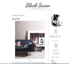 Blog Template Premade Stylish 2 Column Blogger by AtFirstBlink, $20.00