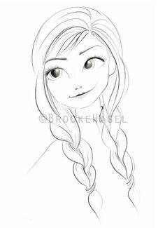 Anna Frozen Frozen Print Fashion Illustration Disney by brooklit