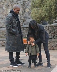 22-month-old North West totes £600 camera for sightseeing in Armenia  - Kim Kardashian Style