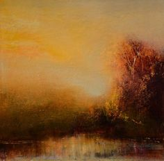 Size: 12x12 in Artwork Description: Antique Sunset captures the organic beauty of a sunset midst the lush nature at the horizon. This piece features a palette of warm earth tones. Artwork Medium: Pane