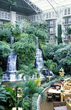 The gorgeous Opryland Resort in Nashville