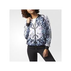 adidas Romantic Woods Superstar Track Jacket (135 SGD) ❤ liked on Polyvore featuring activewear, activewear jackets, red, adidas sportswear, track jacket, adidas activewear and adidas