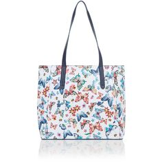 1f380bf70ac Accessorize Butterfly Print Reversible Tote Bag ( 54) ❤ liked on Polyvore  featuring bags, handbags, tote bags, butterfly handbag, tote purses, ...
