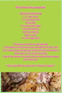 Smoked Turkey Alfredo Sausage recipe