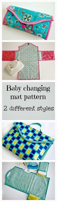 Baby changing mat. Several different styles and options in the same pattern.