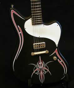 Pinstriped guitar