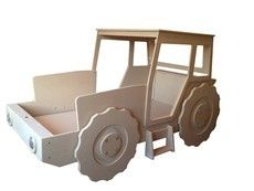 Unpainted tractor bed (single mattress size)