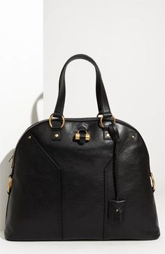 Yves Saint Laurent 'Muse - Large' Leather Dome Satchel $1,650.00