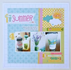 Simply 4 Summer layout by Wendy Sue Anderson #scrapbooking