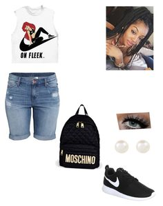 """""""rushed """" by monizzles ❤ liked on Polyvore featuring Accessorize, Moschino, NIKE and H&M"""
