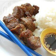 Beef kushiyaki (Japanse rundvleesspiesjes) @ allrecipes.nl