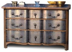 Zinc Reclaimed Wood Hollywood Regency 9 Drawer Dresser - Traditional - Dressers Chests And Bedroom Armoires - Kathy Kuo Home