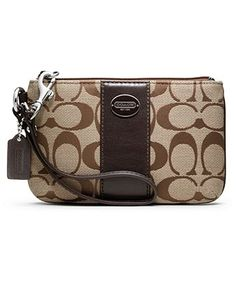 COACH LEGACY SIGNATURE SMALL WRISTLET - Coach Accessories - Handbags & Accessories - Macy's
