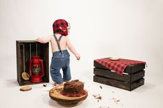 Connor Turns One | Cake Smash Fun | Coquitlam Family Photographer | Paraphrase Productions | Lumberjack