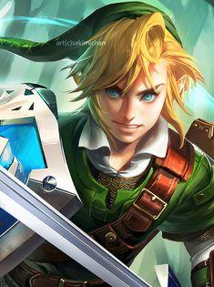Link - legend of Zelda art by sakimichan
