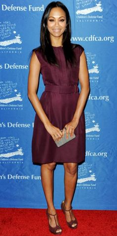 71f5c2848af7d4 DECEMBER 2012 Zoe Saldana WHAT SHE WORE At the Beat the Odds Awards