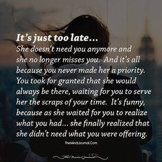 You're Losing Her Without Even Realizing It - The Minds Journal You Lost Me Quotes, Lost Myself Quotes, Without You Quotes, She Quotes, Go For It Quotes, Crush Quotes, Be Yourself Quotes, Lost You, Losing Love Quotes