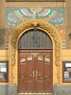 """Le """"cercle des chanteurs patriotes"""", maison art nouveau à Prague"""