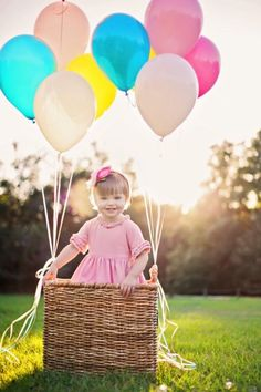 look of hot air baloon for small child.  Love this pic