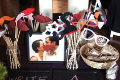 DIY: Photo Booth Props :  wedding black blue brown diy diy photo booth props gold green inspiration ivory navy orange photo booth photo booth ideas pink props purple reception red silver teal white yellow DSC04247