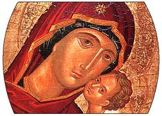 Jesus Christ and his mother as they are represented as mother and son to show that they care and love one another.