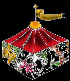 hako  a show tent. - black
