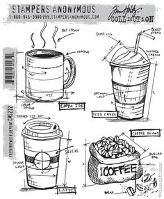 CHA 2015 Sneak Peek | Sizzix Alterations | www.timholtz.com  Coffee themed stamps from Stampers Anonymous