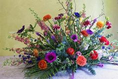 Silk Floral Arrangements, Cemetery Flowers, Funeral Flowers, Flower Ideas, Saddles, Christmas Balls, Opi, Mom And Dad, Floral Design