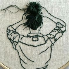 Sweet light embroidery made by Sheena Liam.