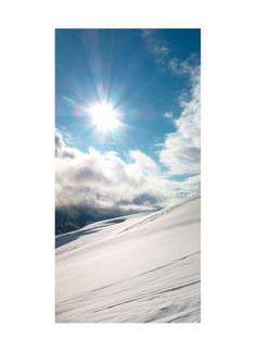 Wintersonne Motivdruck Papier