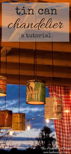 charming unique diy outdoor lighting made from vintage in cans heatherednestcom