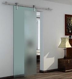 Available as a single or double system. This glass pocket door system complete with 8mm tempered glass door and the same quality Eclisse pocket door frame.