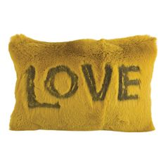Shaved Rabbit Embroidered Love Cushion-product