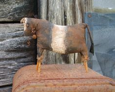 Primitive Cow Doll - Shelf Sitter or Tuck