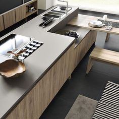 #kitchendesign #kitchen Made of #fenixntm #nanotech #matt #material for…