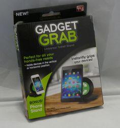 Gadget Grab Universal Tablet & Cell Phone Stand AS SEEN ON TV by APG Sealed NIB http://www.bonanza.com/listings/410794110