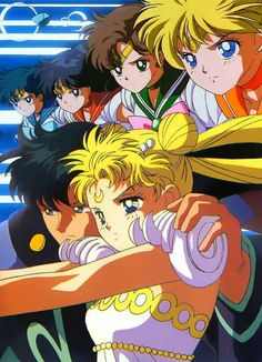 Sailor squad Sailor Moon Manga, Sailor Moons, Sailor Jupiter, Sailor Venus, Arte Sailor Moon, Sailor Scouts, Princesa Serenity, Sailor Moon Kristall, Sailor Moon Aesthetic