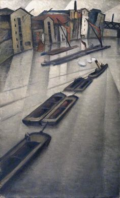 Christopher Nevinson - Barges on the Thames, before 1946