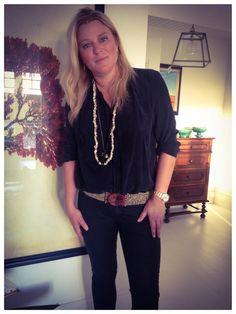 Anneliet wearing her Zani accessories