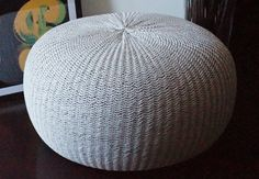 THIS IS STUFFED POUF !!!! Due to the sales of the stock item this product can be made only on order base.    This pouf is handmade. It is perfect to be