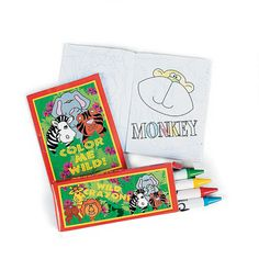 Coloring books as party favors and on-the-spot fun. Comes with crayons!