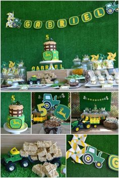 John Deere Birthday Party Ideas Tractor Farm 1st Boy Themes