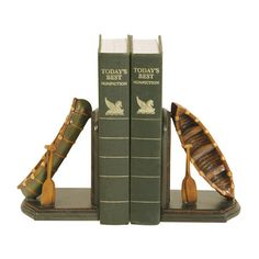 Pair of canoe bookends.