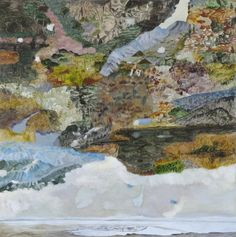 Anna Miles Gallery | Barbara Tuck - Canterbury Upland, 2010 from Ghosting Oil on board, 750 x 750mm