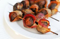 Grilling: Bacon-Wrapped Crimini Mushrooms