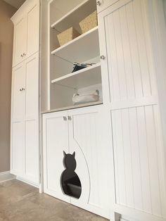 die besten 25 katzenklo schrank ideen auf pinterest. Black Bedroom Furniture Sets. Home Design Ideas