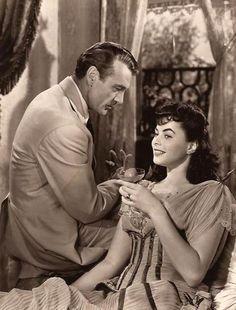 "Gary Cooper and Ingrid Bergman in ""Saratoga Trunk"", 1945."