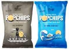 Ping's Popchips on Packaging of the World - Creative Package Design Gallery Chip Packaging, Food Packaging Design, Packaging Design Inspiration, Brand Packaging, Branding Design, Oatmeal Crisp, Creating A Brand, Logo Nasa, Packaging